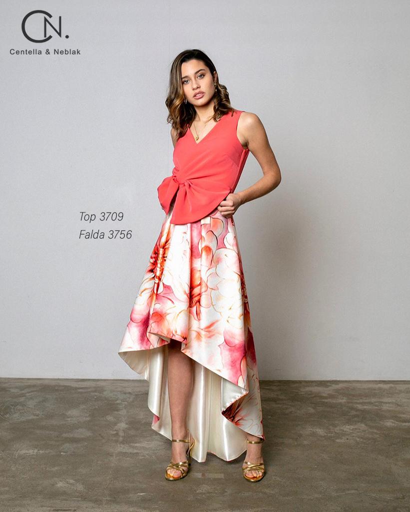 top 3709 - falda 3756